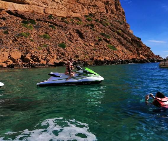 Parque Natural Sierra Helada en moto de agua